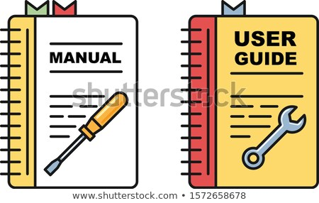 User guide book - manual or instructions icons, spiral book with Stock photo © gomixer