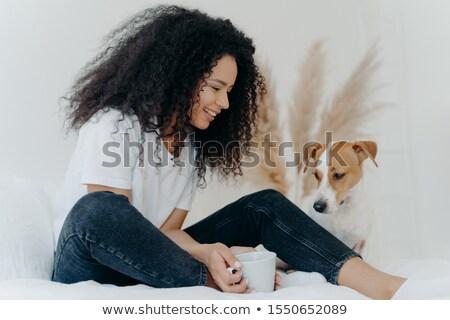 Photo Homme chien propriétaire Photo stock © vkstudio