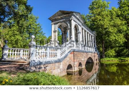 Márvány híd Oroszország park víz természet Stock fotó © borisb17