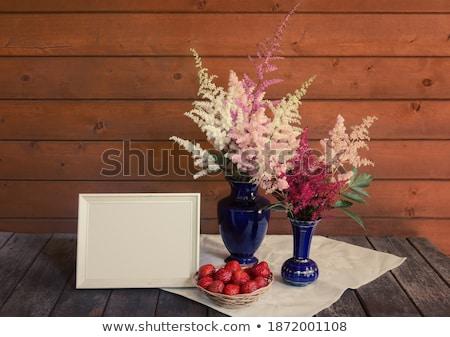Vuota legno Berry basket rettangolare frutti Foto d'archivio © Digifoodstock