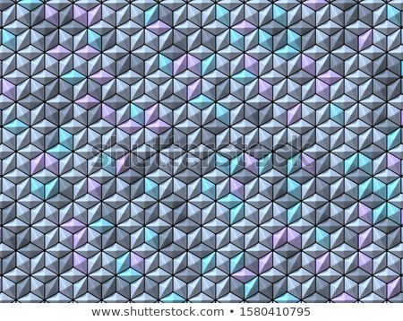 Abstract geometric four pastel color Rhombus pyramid background  Stock photo © djmilic