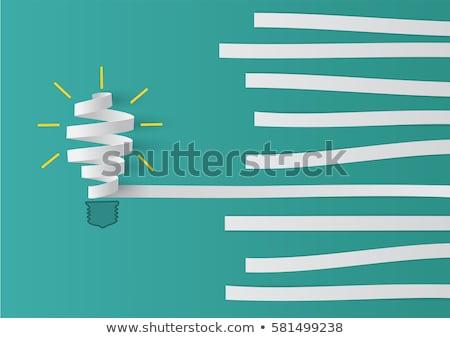 Innovatieve oplossing vector metafoor ideeën generatie Stockfoto © RAStudio