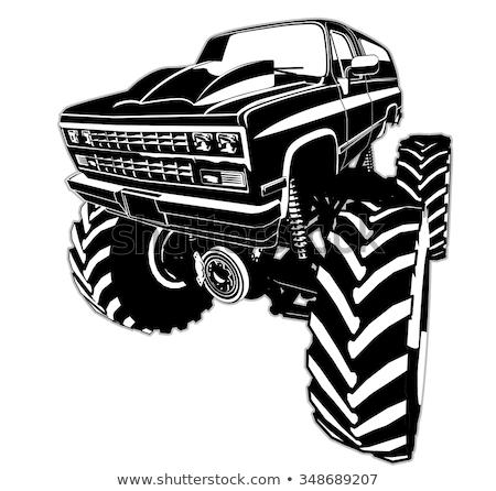 Vector Cartoon 4x4 car hot rod isolated Stock photo © mechanik