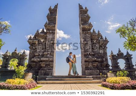 любящий пару храма Бали Индонезия Сток-фото © galitskaya
