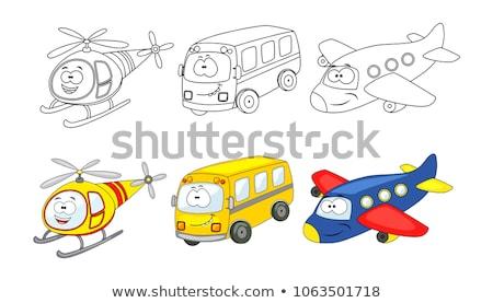 Cartoon grappig object ingesteld kleurboek Stockfoto © izakowski