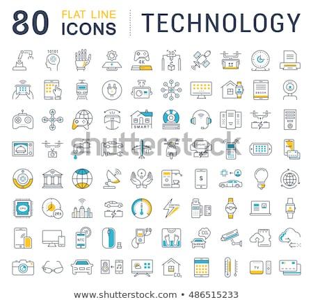 Szerkentyű ikon gyűjtemény szín vektor ikonok háló Stock fotó © ayaxmr