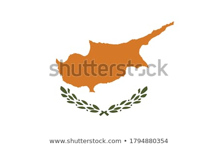 Cyprus flag, vector illustration on a white background Stock photo © butenkow