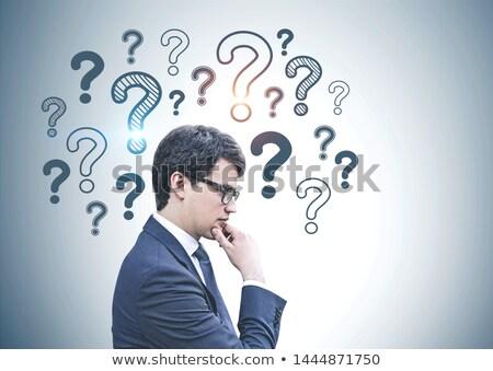 Empresario mirando confundirse caucásico indeciso Foto stock © iofoto
