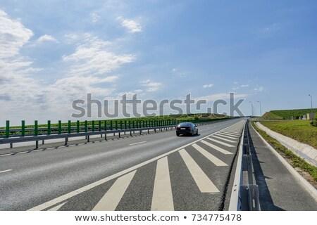 Румыния · шоссе · знак · зеленый · облаке · улице · знак - Сток-фото © kbuntu
