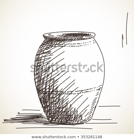 Antique clay jars Stock photo © alrisha