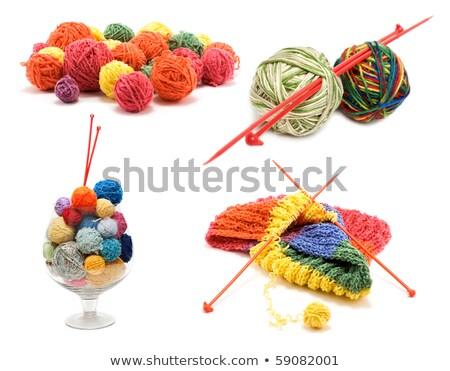 Ball for knitting in glass Stock photo © RuslanOmega