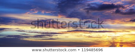spectacular sunset sky panoramic shot stock photo © moses