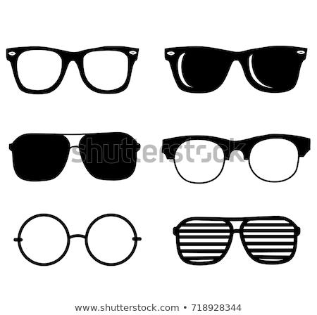 Солнцезащитные очки изолированный белый лице дизайна фон Сток-фото © kitch