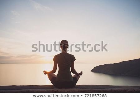 Stock photo: Meditation by the Sea