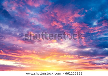 View of a spectacular sky at sunset time Stock photo © moses