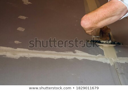 Man installing plaster board divide Stock photo © photography33