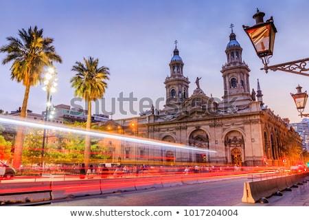 パノラマ サンティアゴ チリ 家 市 ストックフォト © Spectral