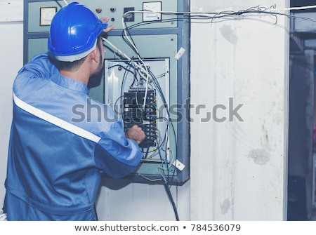 rear view of an electrician stock photo © photography33
