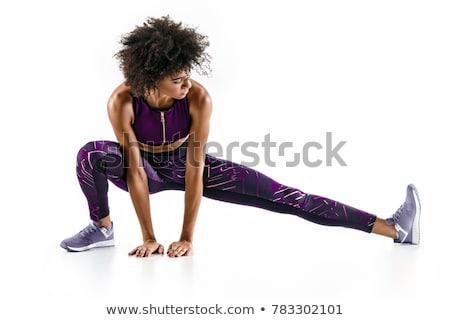 női · lábak · fehér · háttér · nő · meztelen - stock fotó © Nobilior