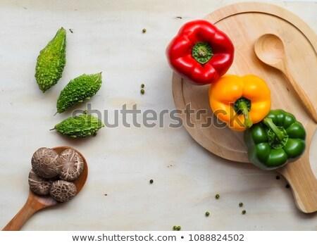 Három keserű boglya friss étel baba Stock fotó © calvste