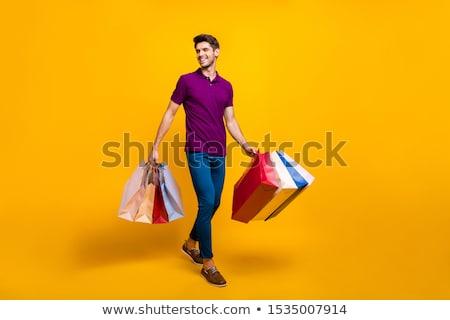 男 · ショッピングバッグ · 画像 · ハンサムな男 · 幸せ · ショッピング - ストックフォト © photography33