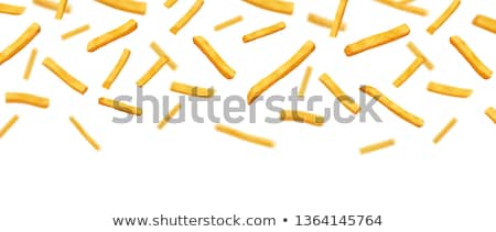 Stockfoto: Deep Fried Potato Snack - French Fries In Red Box
