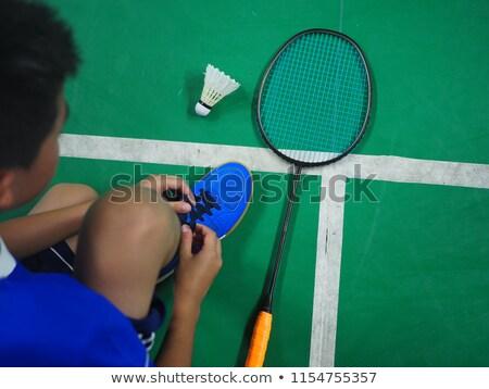 Cipők kész játék tollaslabda cipő sport Stock fotó © stuartmiles