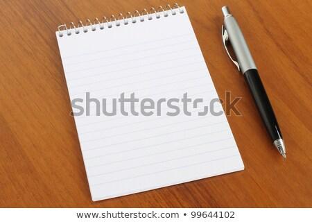 Ballpoint pen with blank notepad Stock photo © nailiaschwarz
