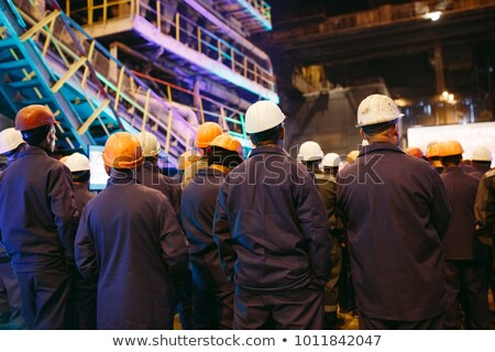 Işçi grev Bina adam inşaat genç Stok fotoğraf © photography33