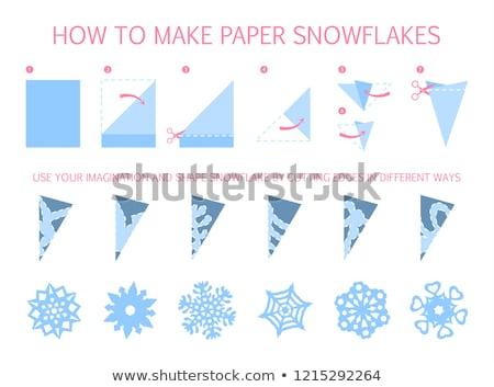 How to make paper snowflakes Stock photo © Kaludov