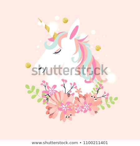 pink unicorn horse cartoon  Stock photo © dagadu