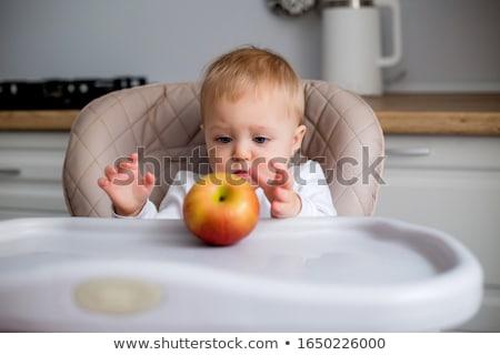 baby eating applesauce Stock photo © gewoldi