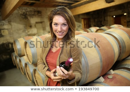 Smiling winegrowers in cellar Stock photo © photography33