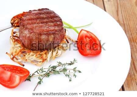 grilled meat and pasta stock photo © M-studio