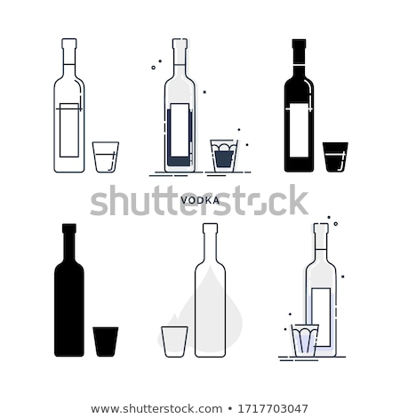 Bottle and glass of vodka Stock photo © ozaiachin