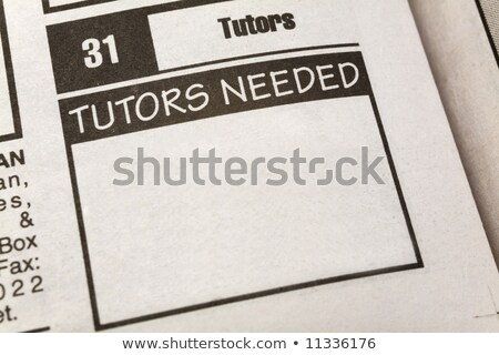 Classified Ad Tutors Needed Stock photo © devon