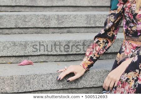 belo · modelo · brilhante · make-up · fechado · um - foto stock © feedough