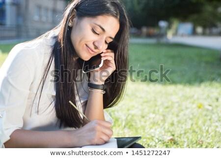 Indian kobieta interesu pda atrakcyjny piśmie odizolowany Zdjęcia stock © lisafx