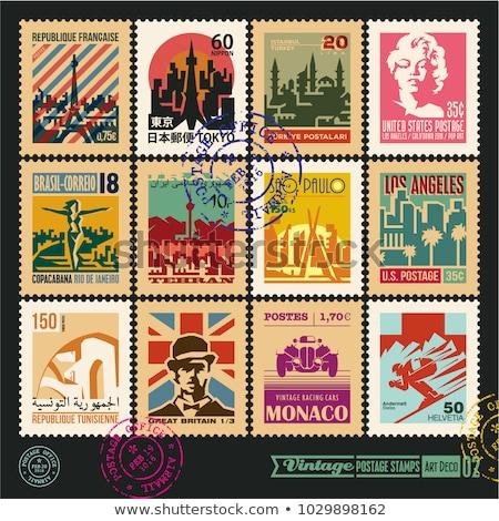 E-mail Irã imagem carimbo mapa bandeira Foto stock © perysty