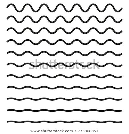 抽象的な · ベクトル · 青 · 緑 · 波状の · 行 - ストックフォト © dvarg