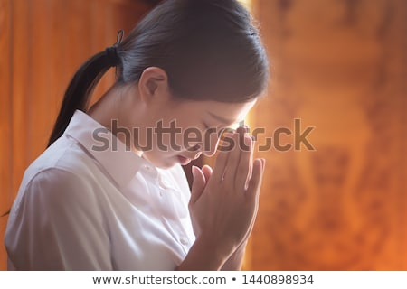 Stock photo: praying buddha