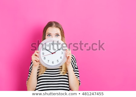 Woman with clock Stock photo © photography33