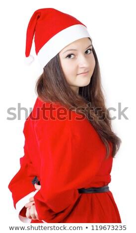 jonge · vrouw · jurk · rond · witte · partij · vrouwen - stockfoto © oleksandro