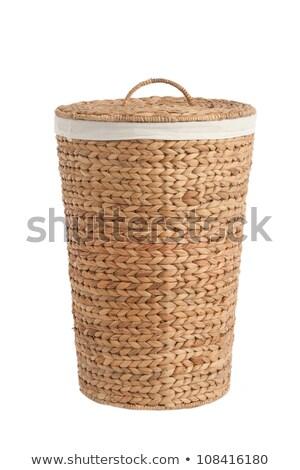 Isolated On White Laundry Basket Made Photo stock © caimacanul