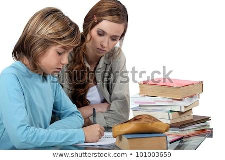 kadın · öğretmen · okuma · kitap · küçük · kız · yıl - stok fotoğraf © photography33