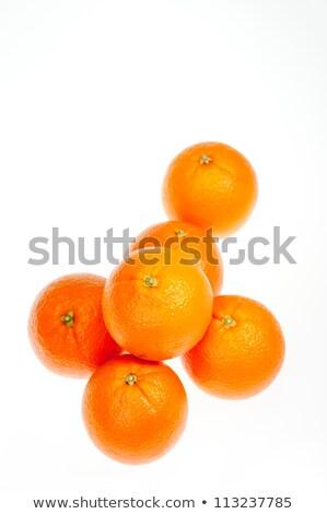 Altı portakal dikey yalıtılmış beyaz doğa Stok fotoğraf © calvste