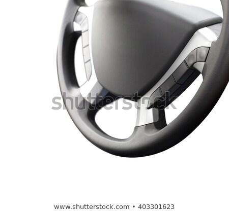 Komputera kierownica odizolowany biały samochodu Internetu Zdjęcia stock © shutswis