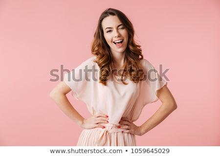 女性 ピンク 見える カメラ 愛 ストックフォト © leedsn