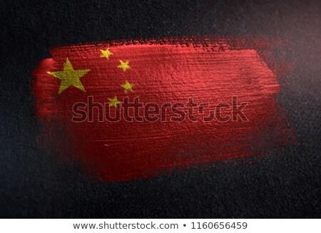 вектора · Label · Китай · флаг · штампа · продажи - Сток-фото © mikemcd