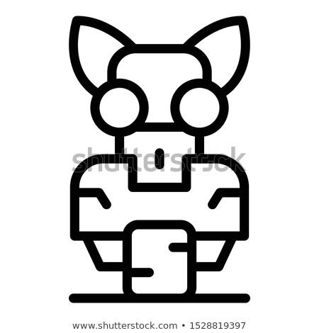 Tatouage art illustration bébé robot technologie Photo stock © Fernando_Cortes